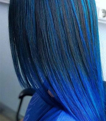 Frosted Blue Black Hair