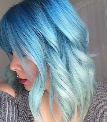 Teal And Light Blue Hair