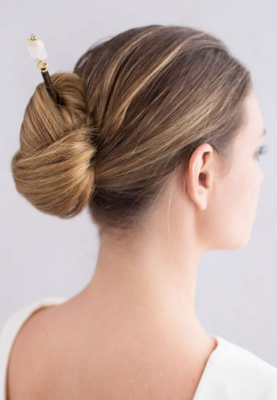 Rectangular Bun Hairstyle