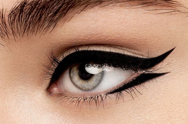 Try a Cat-Eye to make your eyes look smaller